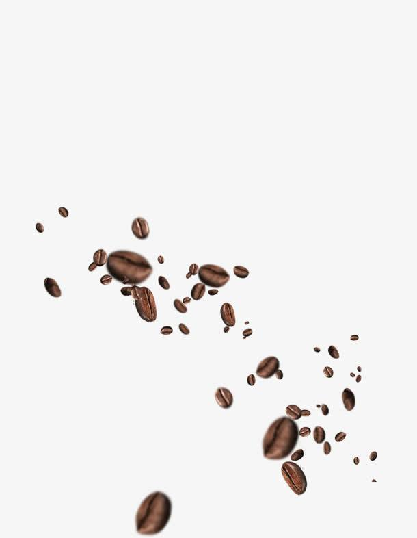 黑色巧克力豆不规则散落漂浮.jpg
